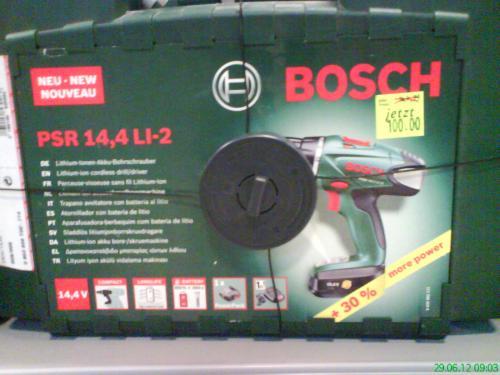 Bosch PSR 14.4 Li-2 für 100,- (toom) bzw. auch für 88,- möglich (Bauhaus TPG)