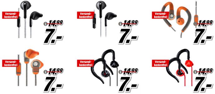 Verschiedene JBL Yurbuds Kopfhörer für je 7€ versandkostenfrei z.B Yurbuds Focus 400 Kopfhörer Schwarz für 7€ (Media Markt)