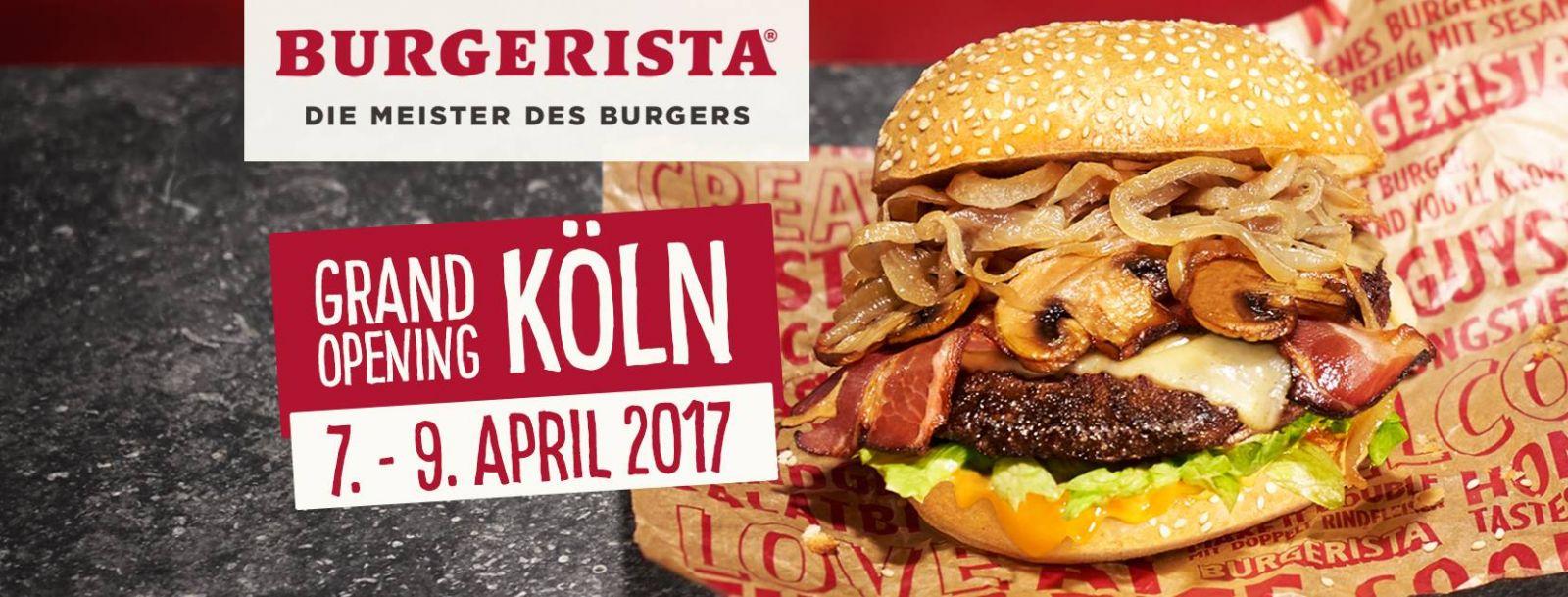 Lokal: Köln - Burgerista Neueröffnung bis zu 50% durch Coupons