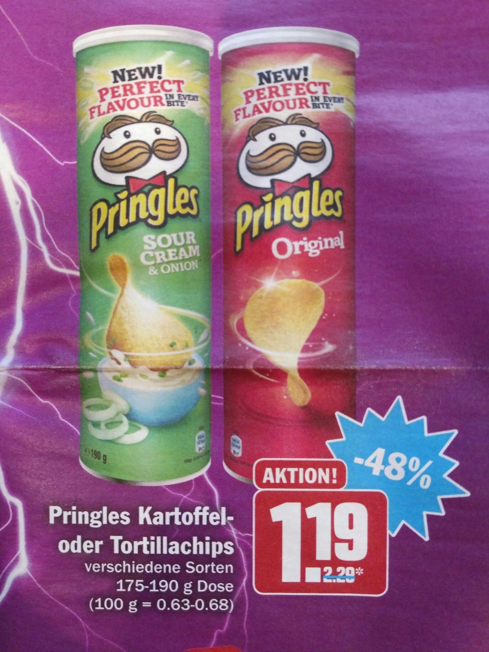 [HIT] Pringles verschiedene Sorten 175g-190g (nur Mi. & Do.)