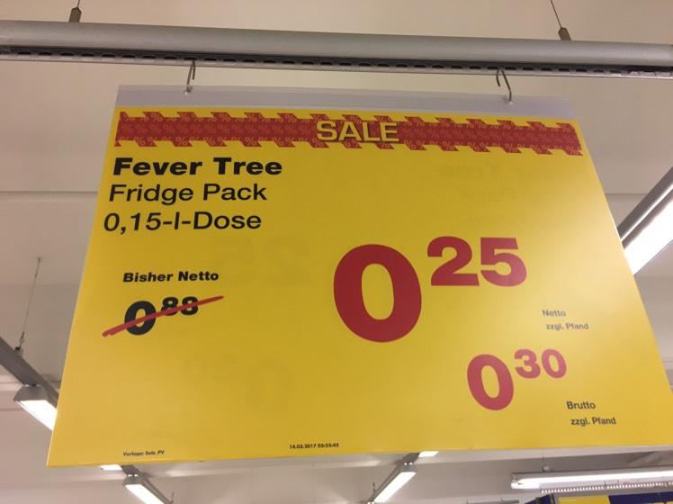 [Metro] 24x Fever Tree Tonic Water in der Dose (24x 150ml) [lokal? Esslingen]