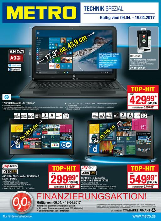[Metro] 65 Zoll 4K Smart TV: Jay-tech GENESIS UHD 6.5 DVX6S für 654,49 € (nächster Idealo-Preis 799 € @Media Markt)