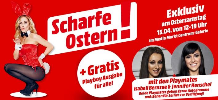 2 Playmates verteilen kostenlos Playboy im Media Markt Dresden Centrumgalerie