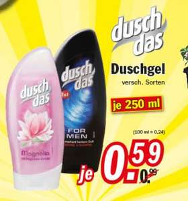 [zimmermann]  duschdas Duschgel (250 ml) verschiedene Sorten 0,59€