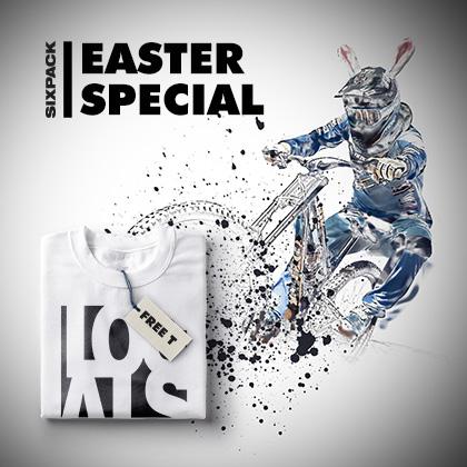 OSTER SPECIAL bei SIXPACK RACING / 1x T-Shirt kostenlos (nur Versand fällig 5.95) Preisersparnis 62.67%