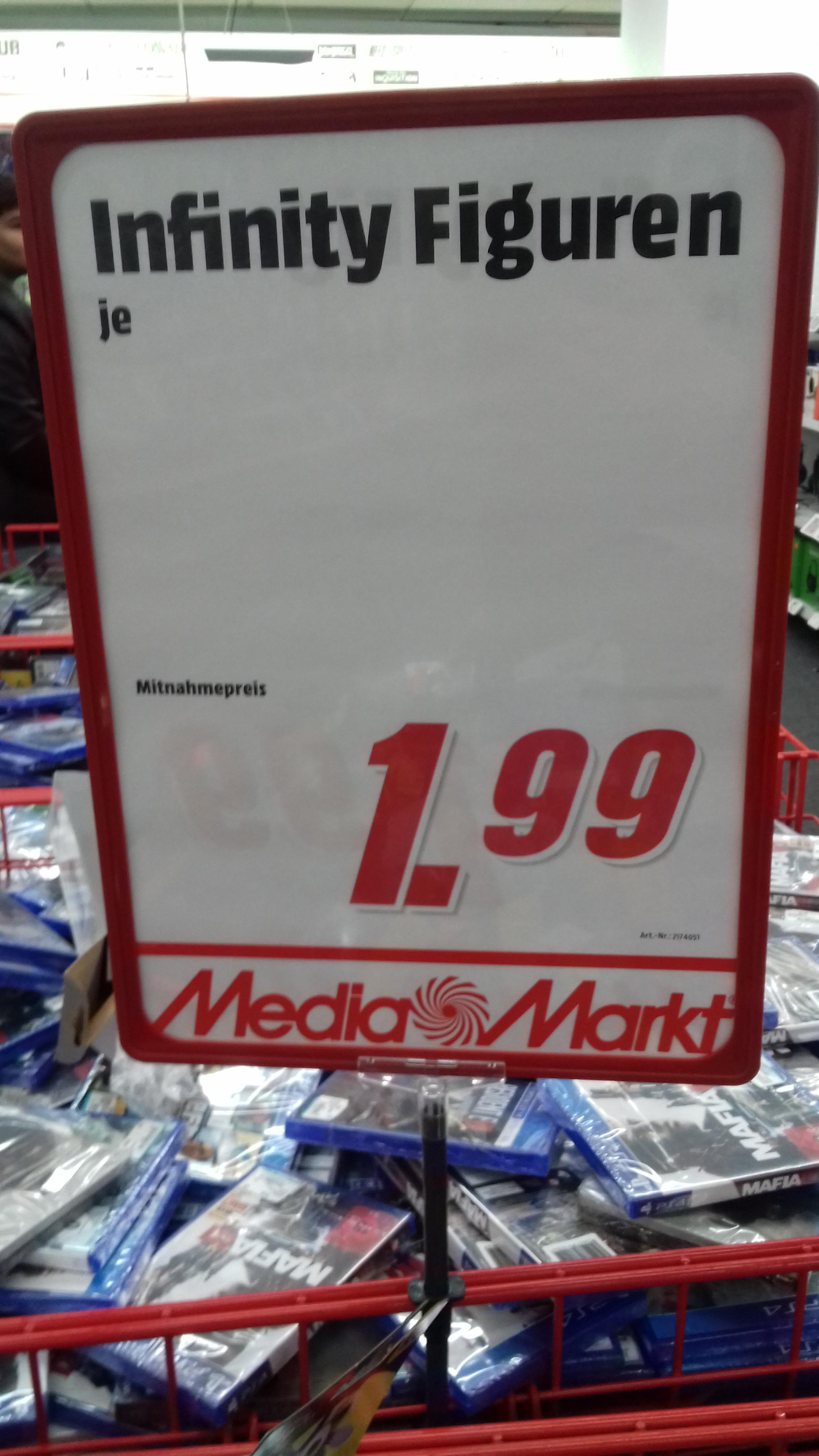 Verschiedene Disney  Infinity  Figuren für 1,99 Euro in Media Markt  Wilhelmshaven  (Lokal)