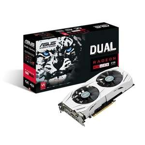 Asus Radeon Dual-RX480-O4G Grafikkarte (4GB GDDR5 Speicher, PCIe 3.0, HDMI, DVI, DisplayPort) für 184,58€ [Amazon.fr]