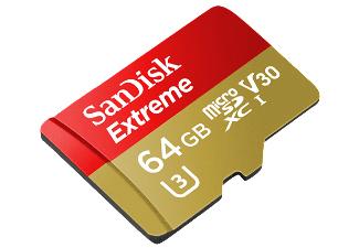 [Mediamarkt]  Sandisk Micro SDXC Karte 64GB Speicherkarte Extreme UHS-I U3 4K 90 MB/s V30 Class 10 für 29,-€ Versandkostenfrei..((Zusätzlich 16Gb Intenso SD Karte für 4,-€ ))