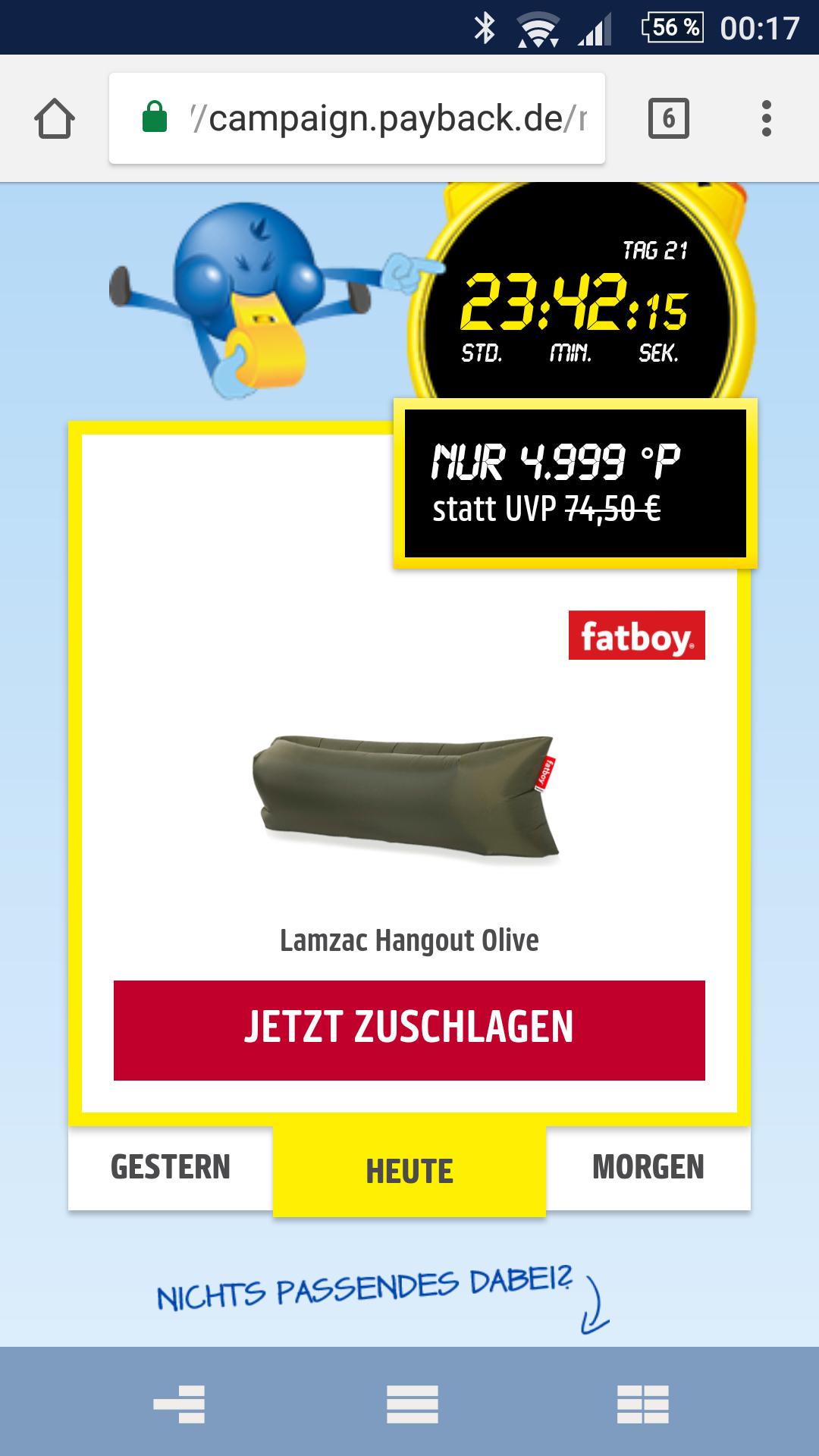 Fatboy lamzac hangout oliv +200 Punkte