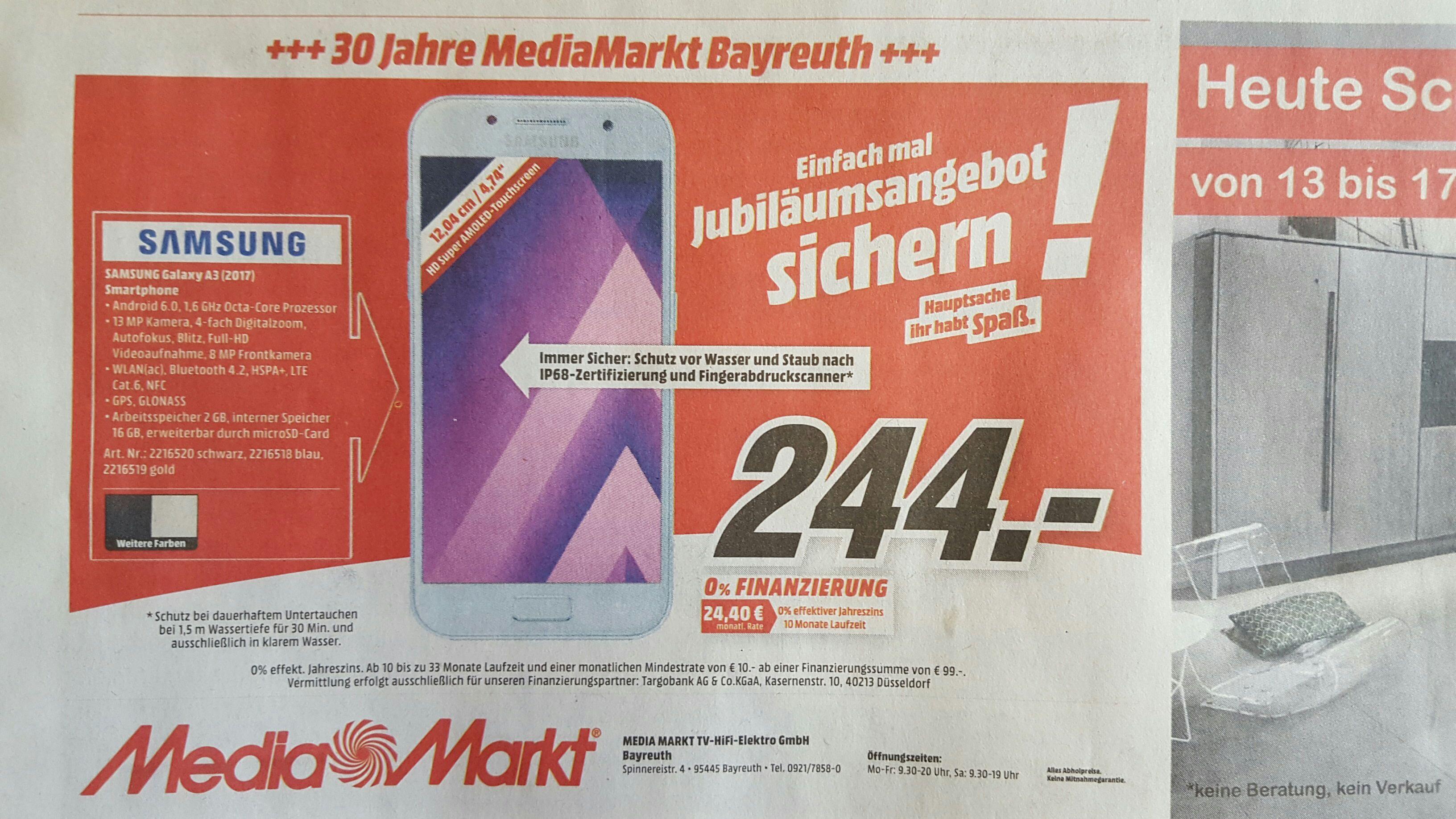Samsung Galaxy A3 2017 LOKAL Media Markt Bayreuth