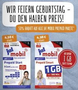 [REWE (bundesweit?)] Ja Mobil Prepaid für 4,98€ ab 18.04.17 (in Kombi mit Payback eCoupon sogar Gartis!)
