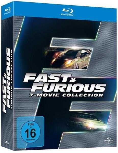 Fast & Furious 7-Movie Collection (Blu-ray Box) für 19,99€ versandkostenfrei (Thalia)
