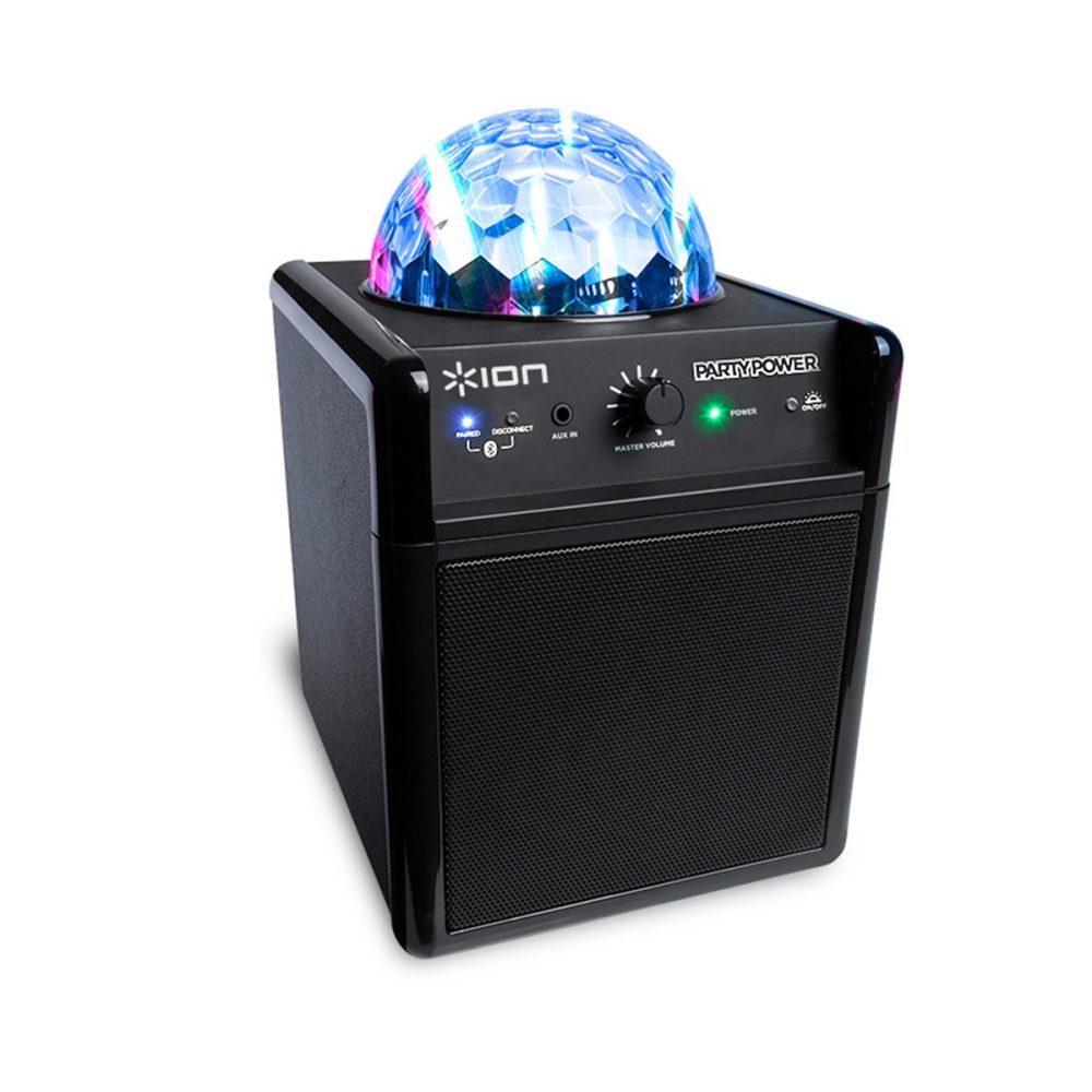 ION Audio Party Power wiederaufladbarer Bluetooth Lautsprecher mit LED Party-Beleuchtung für 61,90€ [Interspar.at]