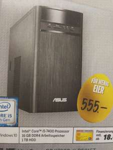 Asus Mini-Tower PC K31CD-K-DE015T (i5-7400, GeForce GT 720, 16GB RAM, Win10) [Medimax]