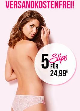 5 Slips für 24,99€ versandkostenfrei bei Hunkemöller *UPDATE*