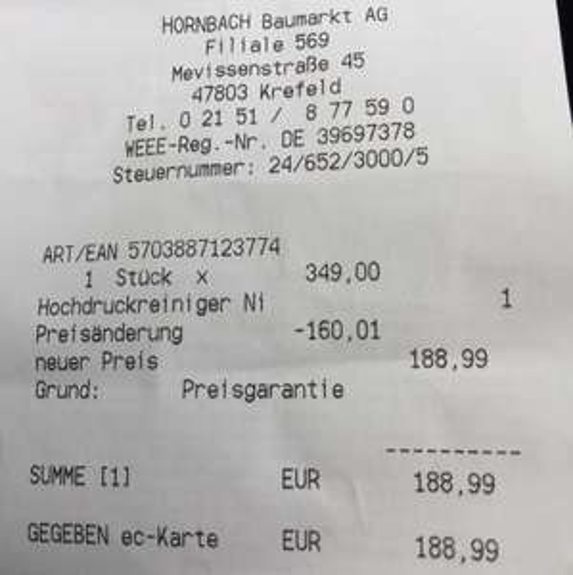 Abgelaufen Lokal Krefeld Düsseldorf Nilfisk Hochdruckreiniger D-PG 140.4-9 X-tra mit Preisgarantie