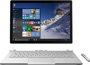 [Saturn LNS Special] MICROSOFT Surface Book, Convertible mit 13.5 Zoll, 128 GB Flash-Speicher, 8 GB RAM, Core™ i5 (6. Generation) Prozessor, Windows 10 Pro, Silber inc. Office 365 für 1199,-€