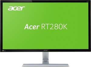 Acer RT280K Monitor (28'' UHD TN, 300cd/​m², 1ms, 1.000:1, HDMI + DP + DVI, AMD FreeSync, VESA, EEK B) für 279€ [Amazon]