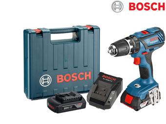 Bosch Professional GSB 18-2-LI Akku-Schlagbohrschrauber (2 x 1,5 Ah Akku, 18 V, Koffer) für 135,90€