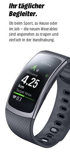 Samsung Gear Fit 2 L (blau/grau/pink) und S (blau) für 130,99 bei Mediamarkt