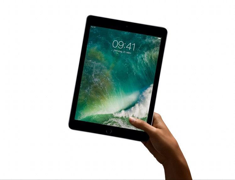 Apple iPad 2017 (neueste Generation), Spacegrau, 32GB WiFi für 341,10€, mit Shoop 334,28