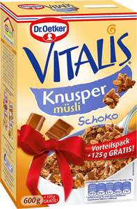 [Kaufland] D. Oetker Vitalis Müsli für 1,85€ - Zucker, Palmöl, Glycerin: Extra viel zum Sonderpreis!