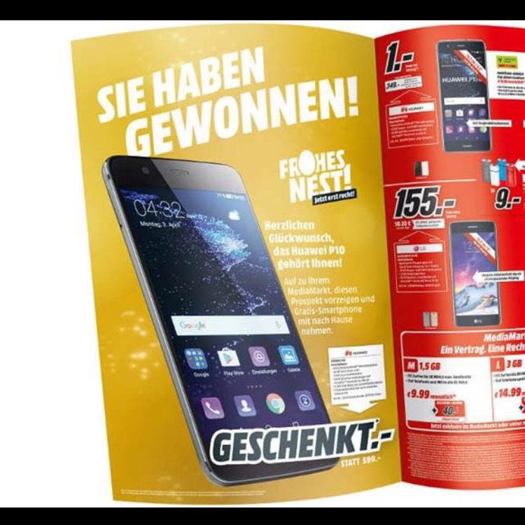 Media Markt Huawei P10 for free mit etwas Glück