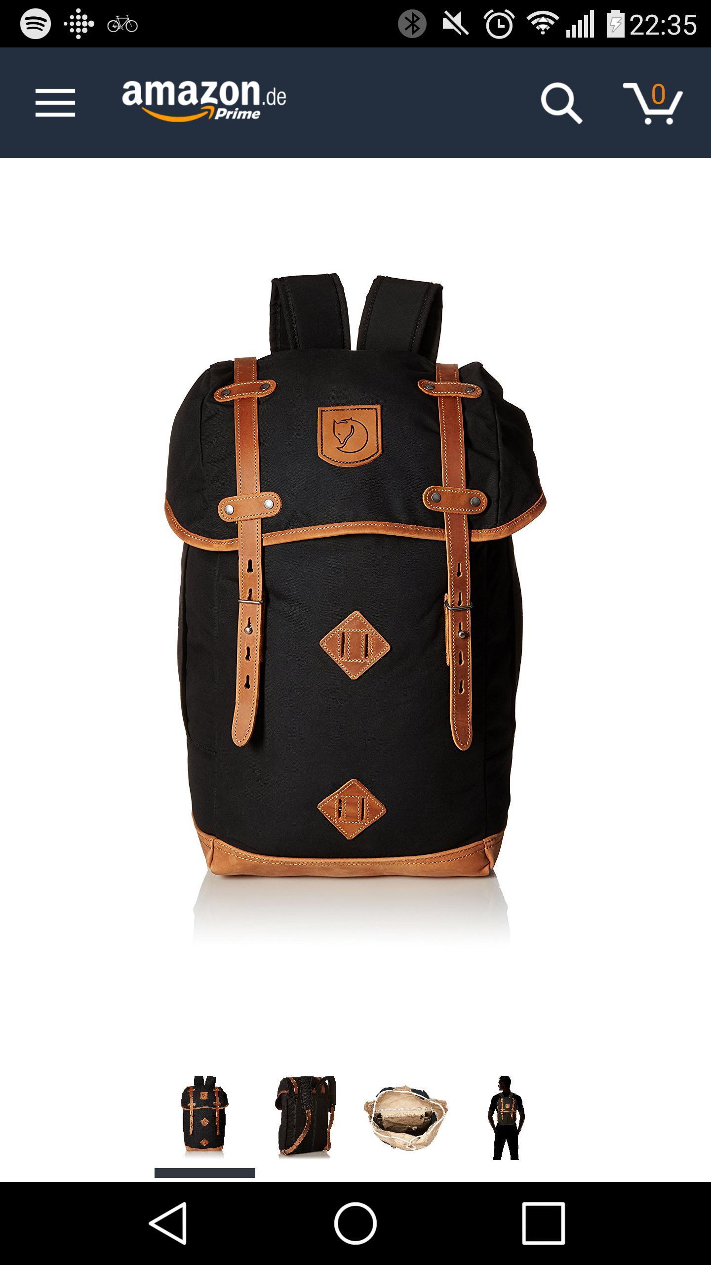 (Amazon.de) FjällRäven Rucksack No.21 Small Black (und einige andere Farben auch)