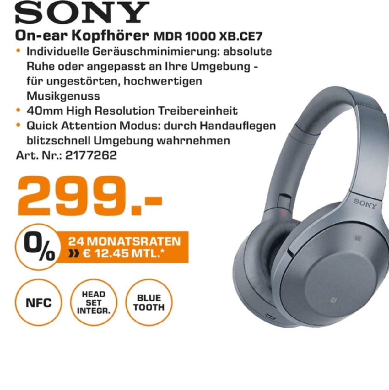 (Lokal Saturn Stuttgart/Esslingen/Leonberg) Sony MDR 1000X in schwarz für 299,00