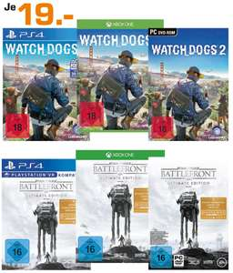 [Saturn Berlin/Potsdam] Watch Dogs 2 (PC, XBO, PS4) und Star Wars Battlefront UE (PC, XBO, PS4) für je 19€