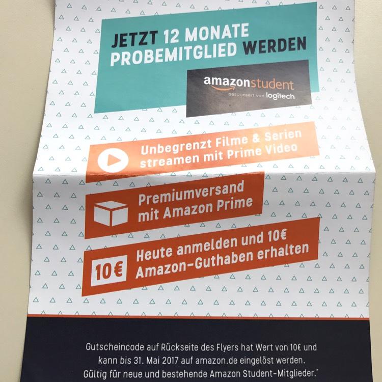 [Lokal TU Braunschweig] 10€ Gutschein für Amazon Student Mitglieder