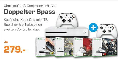 [Saturn] XBox One S, 1TB inc. Halo Wars 2 + 2.Controller für 279,-€***Jedes weitere Xbox One 1TB Bundle für je 279,-€ + 2. Controller**Update..Wieder verfügbar!