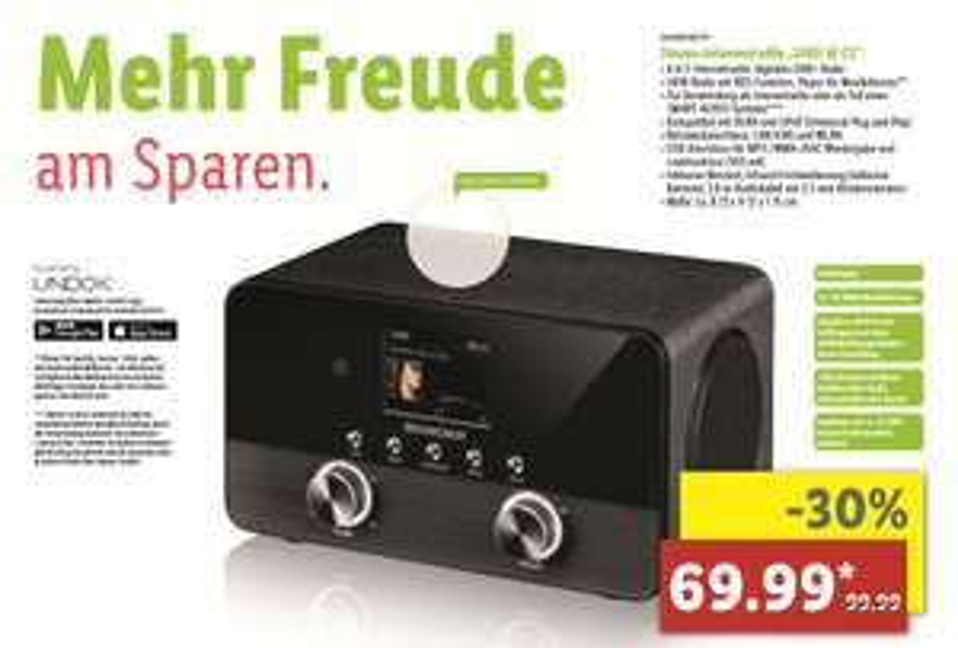 "[Lokal Dresden] Lidl Internetradio DAB+ ""SIRD 14 C2"" 30%"