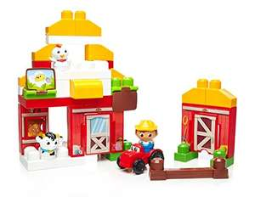 Mattel Mega Bloks DPJ57 Farm-Freunde, Bau und Konstruktionsspielzeug