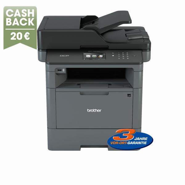 Brother DCP-L5500DN mit 3 Jahren Garantie für 219,90€ + 20€Cashback - Laser-Multifunktionsdrucker mit Duplex