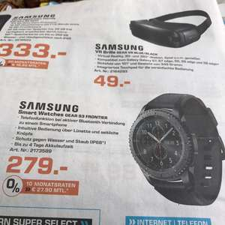 Samsung Gear S3 Frontier - Lokal Saturn Dortmund
