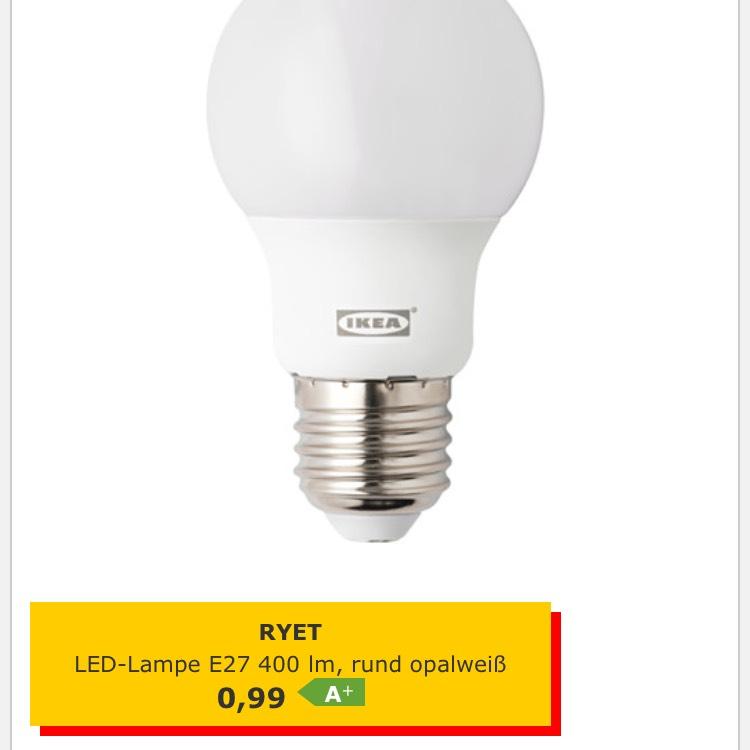 [Ikea] 3x RYET E27 led 400lm (Essen)