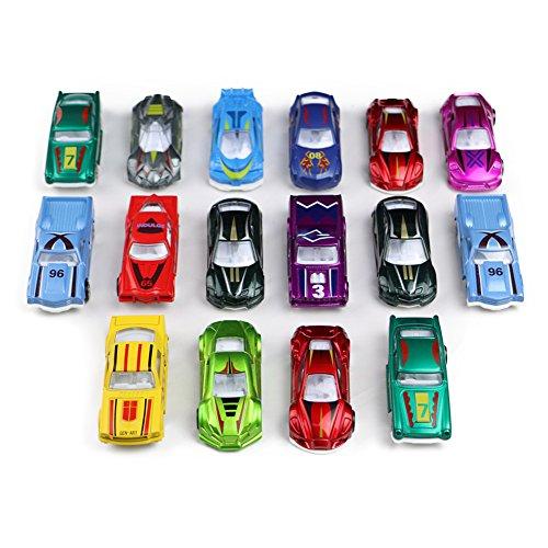 Modellautos Set Kinder Spielzeugauto 1:64 Fahrzeugmodell Kleines Metall Rennauto Spielset ab 3 jahren ,16 pcs [Amazon Prime]