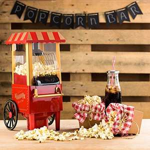 Gadgy Popcorn Maschine | Retro Popcorn Maker | Heissluft Ohne Fett Fettfrei Ölfrei [Amazon Prime]