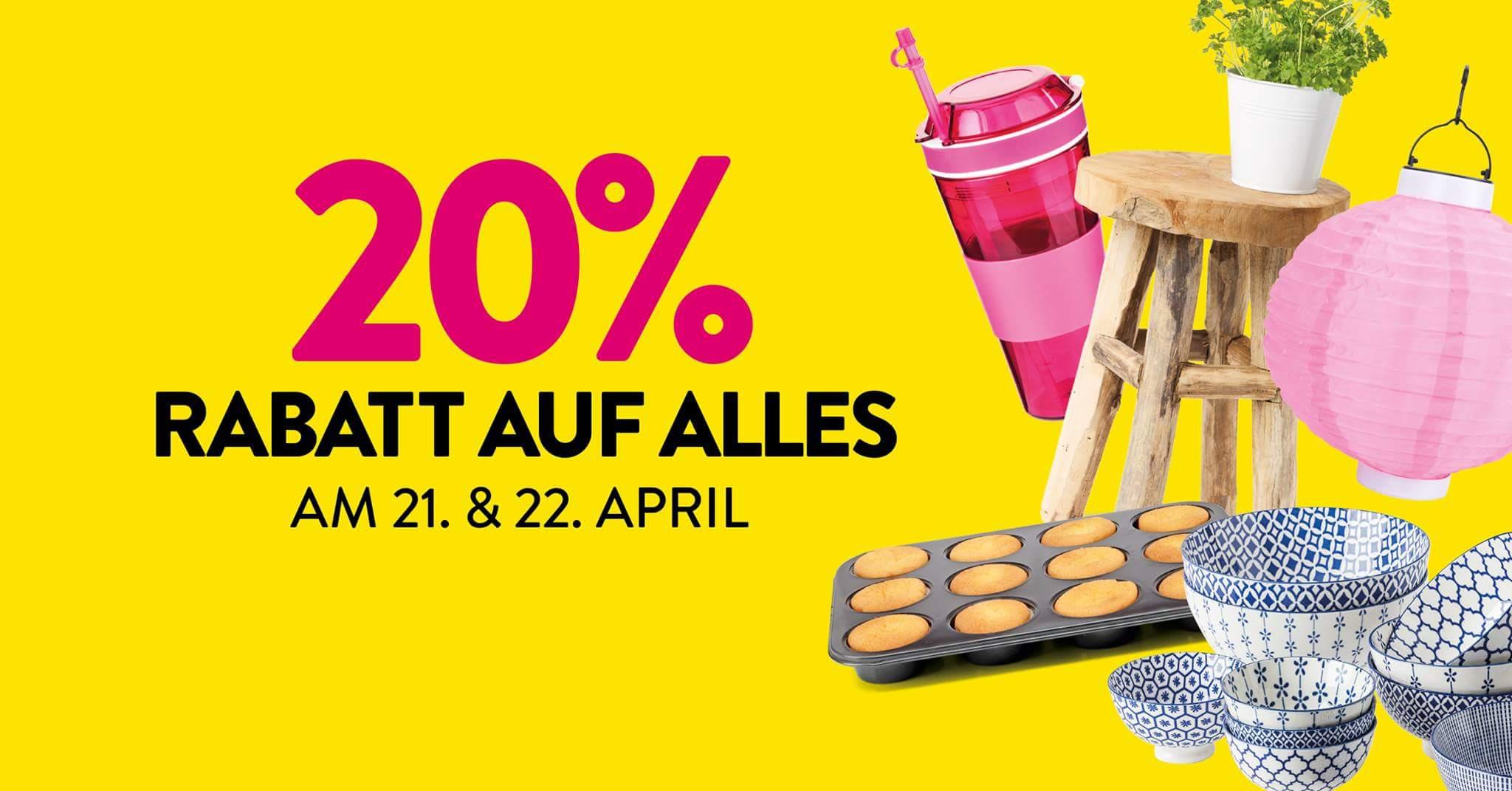 [Bundesweit] Xenos (offline): 20% auf alles am 21. und 22. April