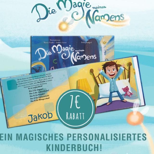 7€ Gutschein für Kinderbuch Die Magie meines Namens