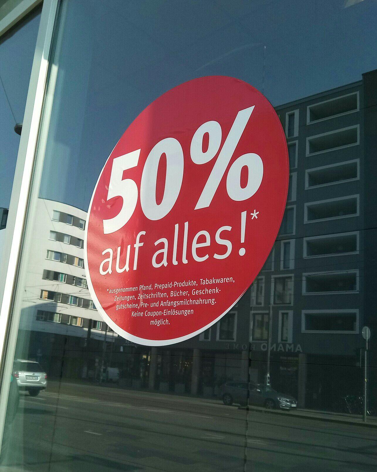 (Lokal Berlin Mitte) Rossmann Update: Jetzt sogar 50 % auf Alles*