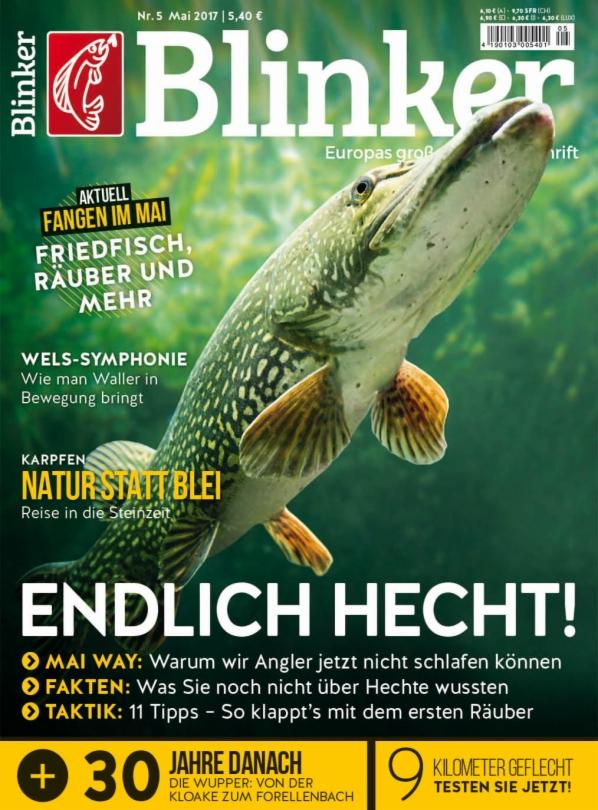 (offline) Blinker Angelzeitschrift Ausgabe 05/2017 für einmalig 1€ im Handel