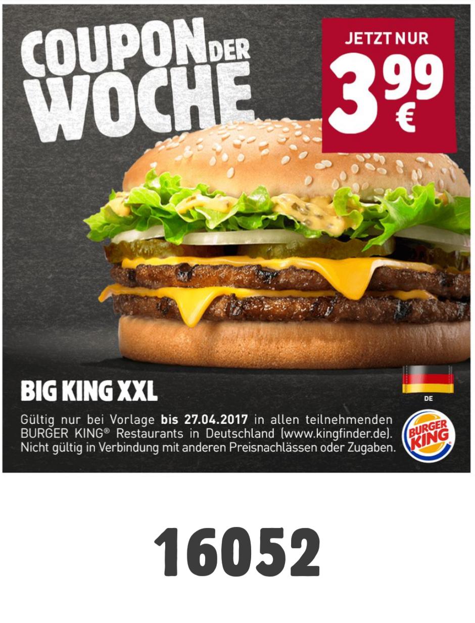 [Burger King] Big King XXL für 3,99€