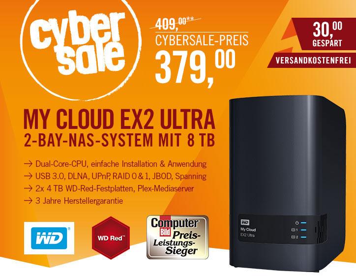 WD My Cloud EX2 Ultra 8TB für 379€ - NAS mit 2x 4TB Festplatten