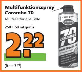[Globus Baumarkt] Das 35-jährige Jubiläum geht weiter (alle Angebote) - z.B. Caramba 70 (300ml) für 2,22 Euro