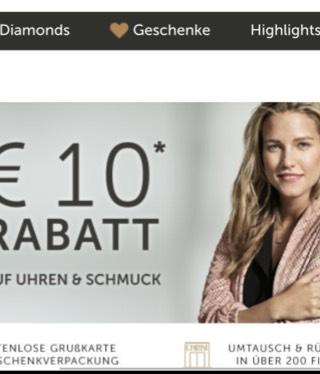 10€ bei Christ als Neukunde bei 80€ MBW