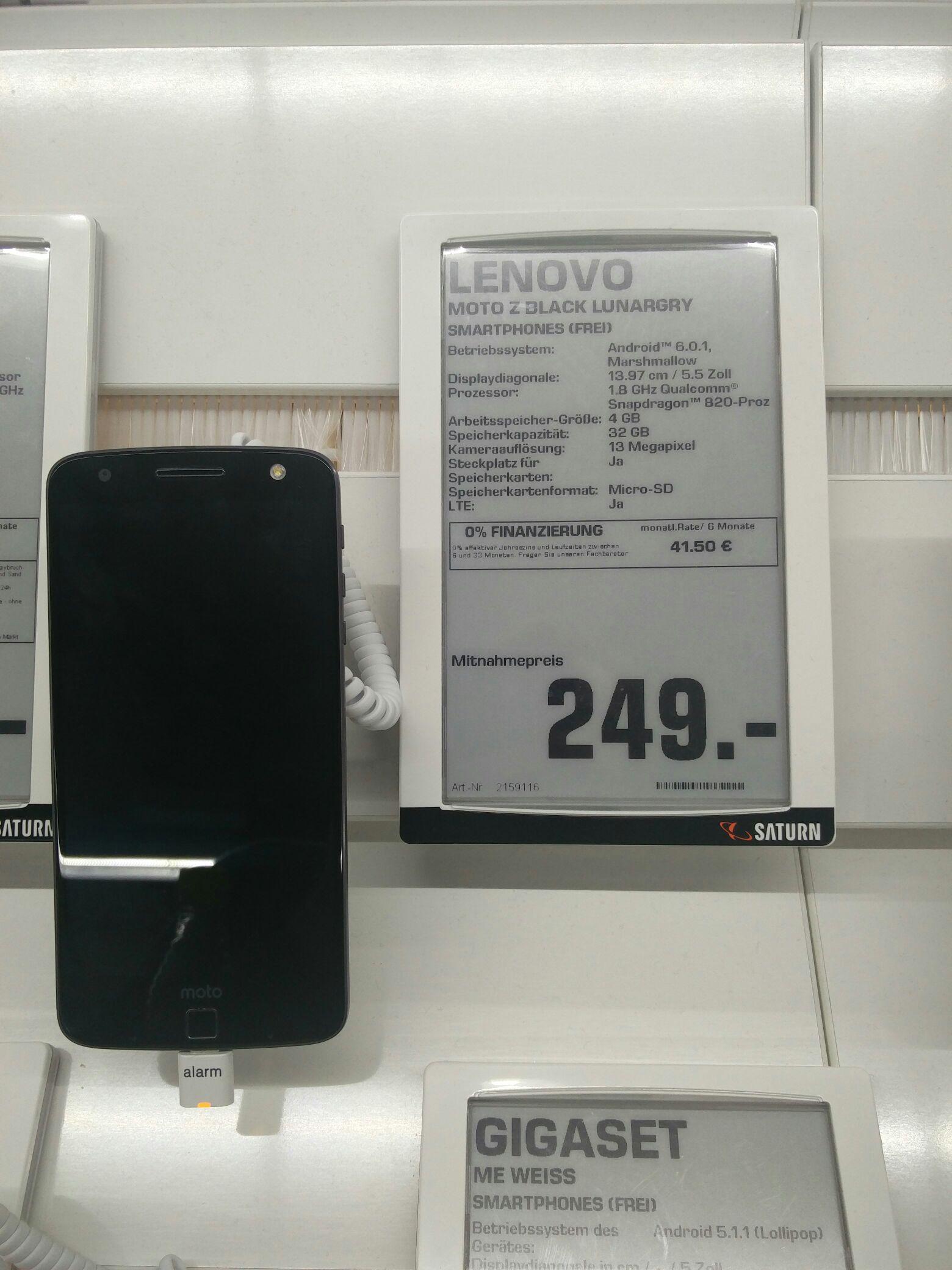 [Nicht Lokal ;-) ] Lenovo Moto Z Saturn Offline verfügbar