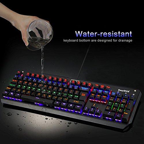 EasySMX Gaming Tastatur beleuchtet, wasserdicht, Kabel, Aluminium für 39,99€ statt 59,99€
