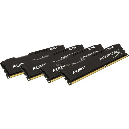 ZackZack Angebot: Kingston HyperX Fury 32GB DDR4-2400 RAM Quad-Kit 288-Pin PC4-19200U